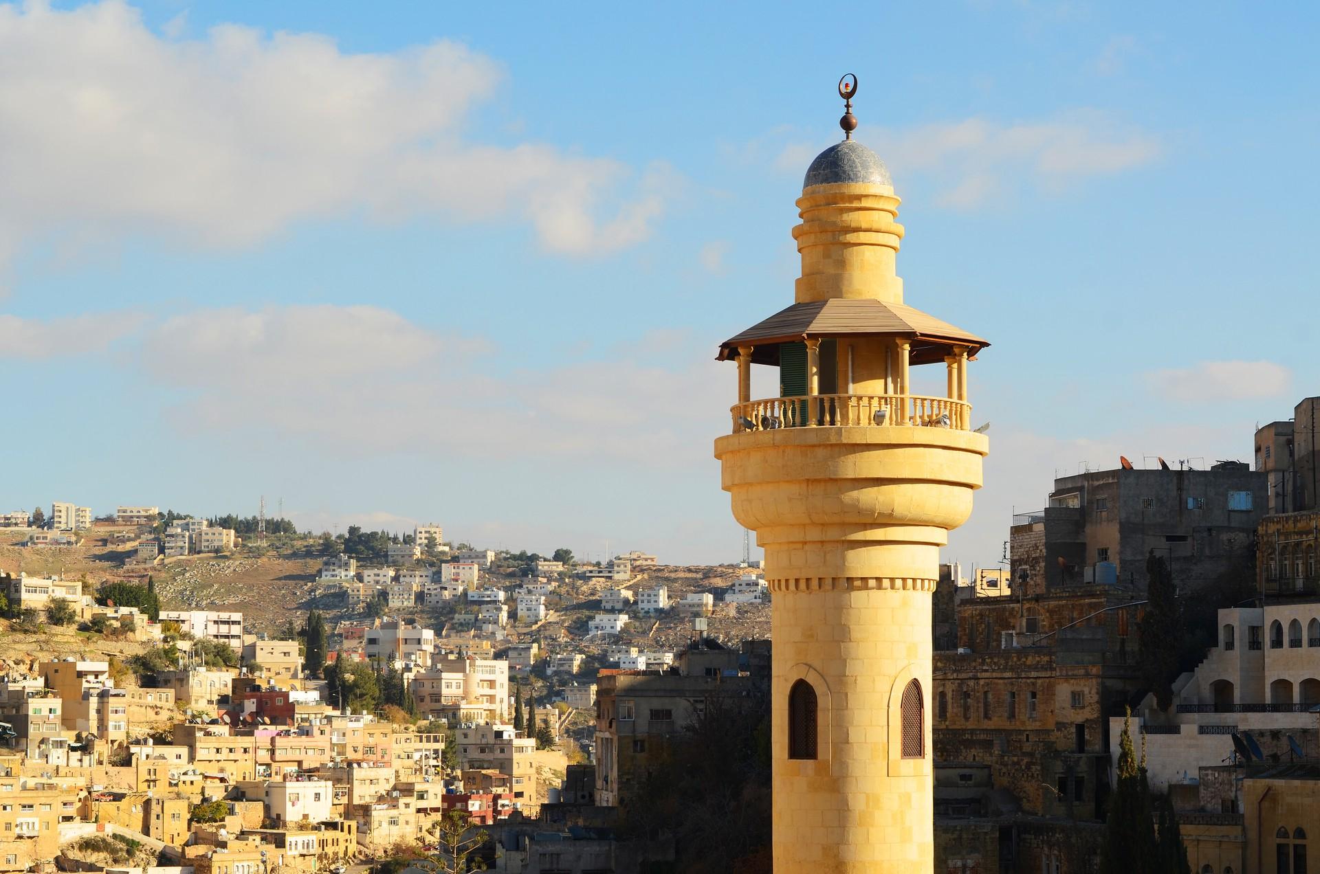 the minaret of Salt in Jordan