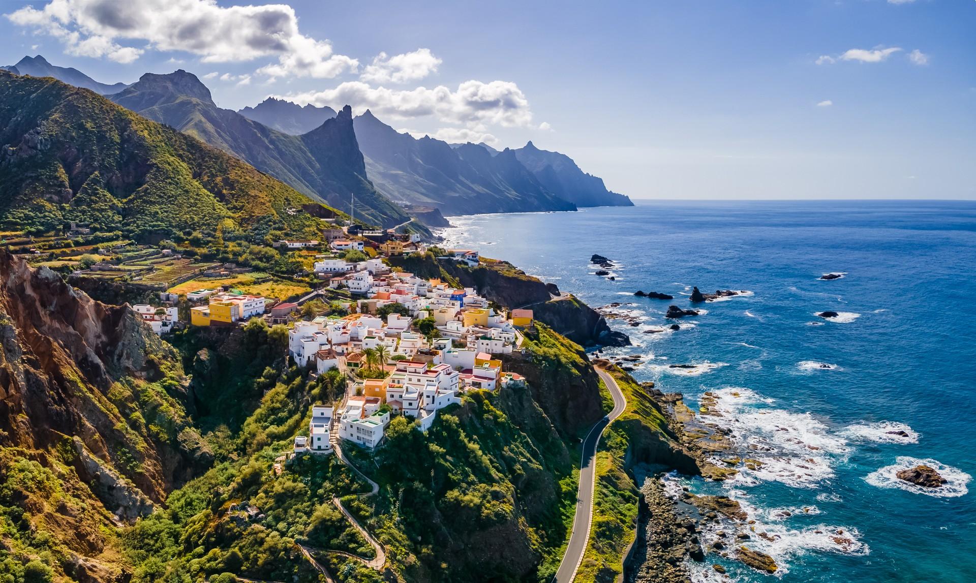 Coastal road views on a Tenerife road trip