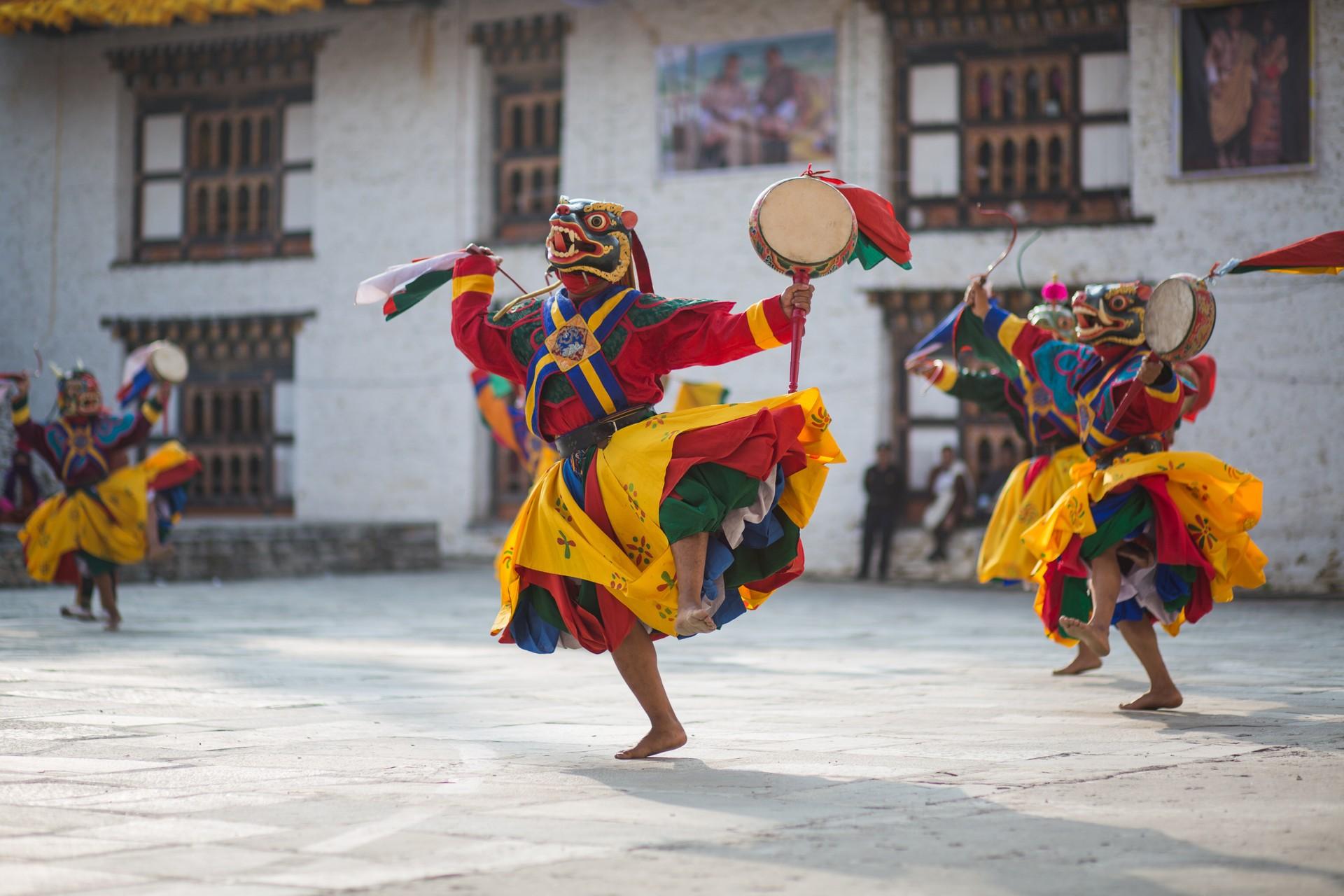 Traditional dancing Bhutan