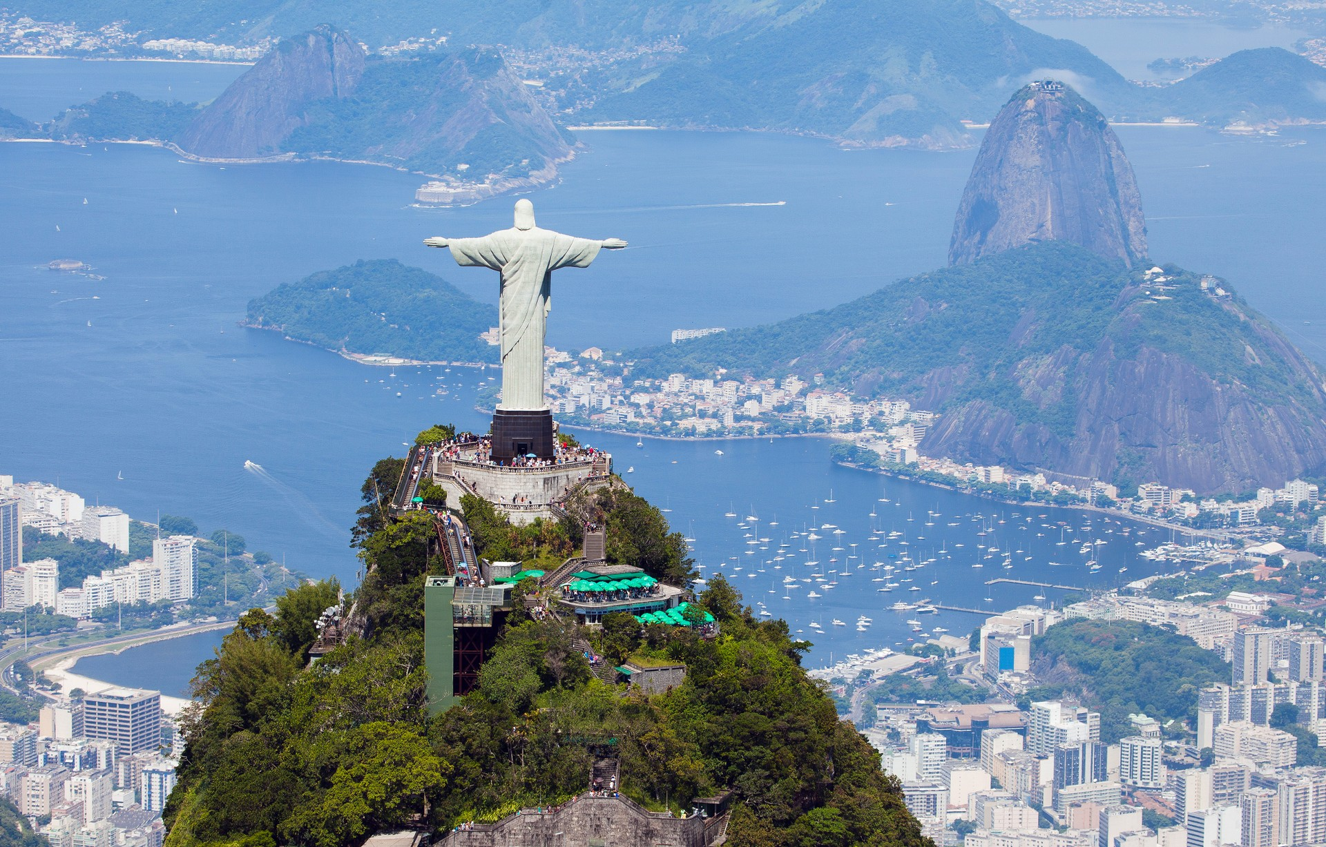 Christ the Redeemer atop the Corcovado mountain