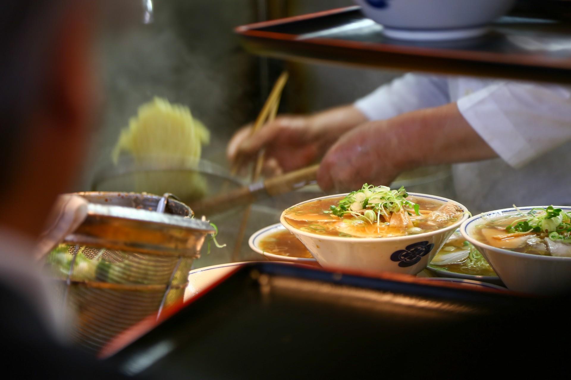 Tokyo food tour - ramen at Tsukiji fish market