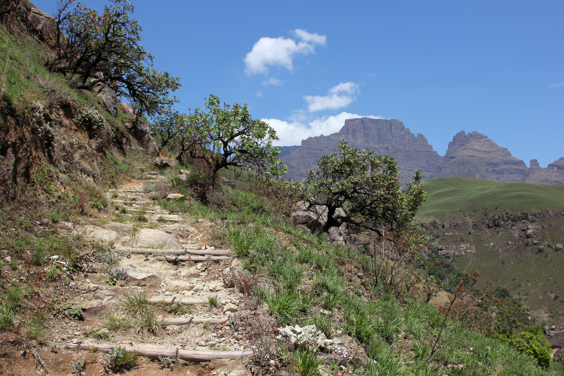 Champagne castle hiking trail, Drakensberg, South Africa
