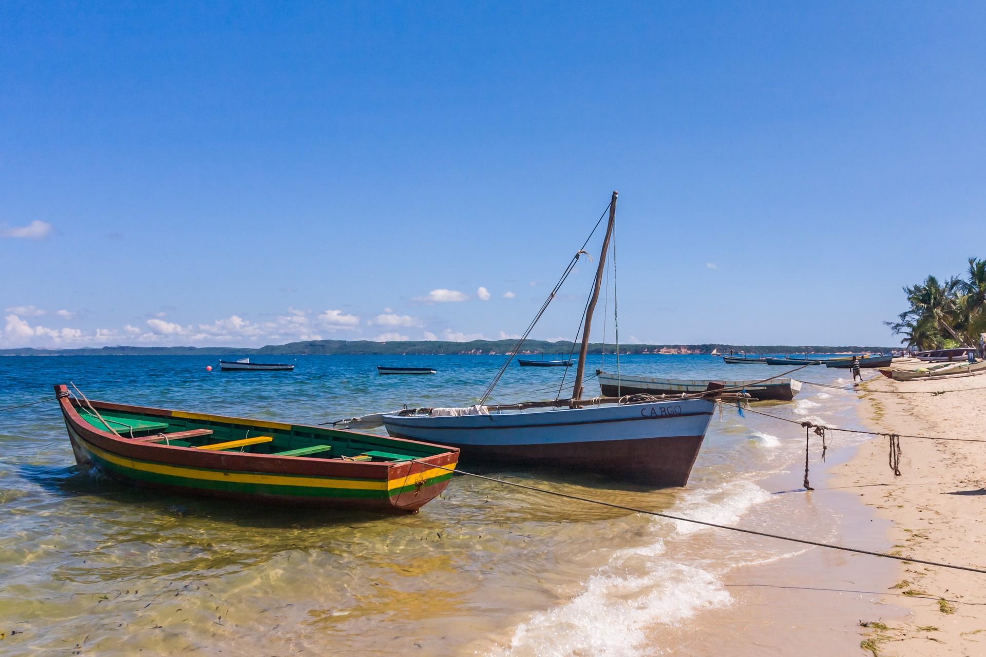 Boats floating on the shores of Antsiranana, Madagascar