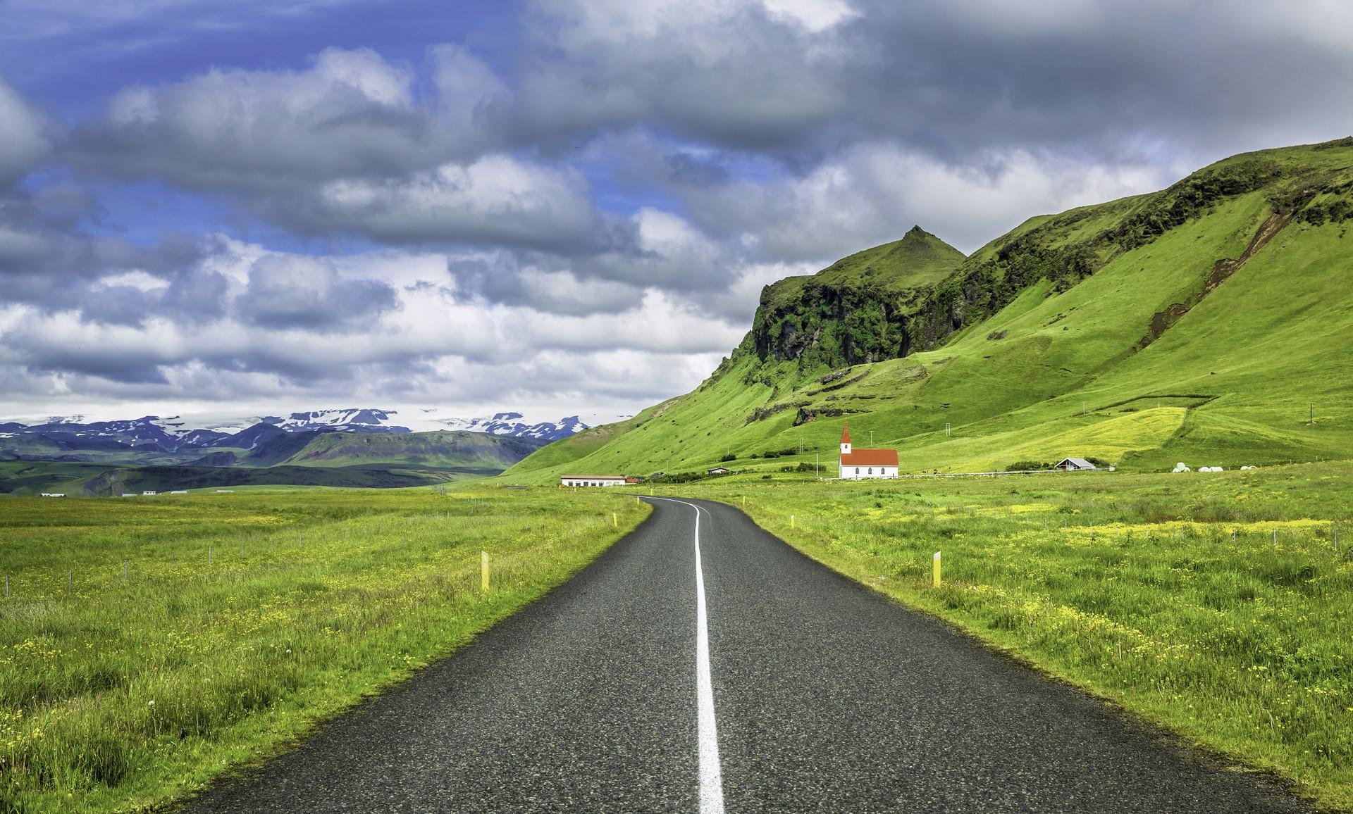 Road trip views in rural Iceland