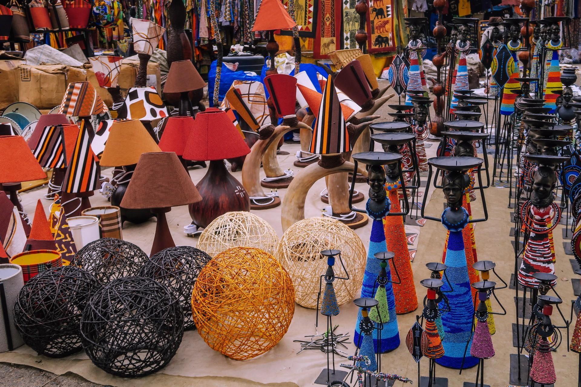 Craft stall in Nairobi Market