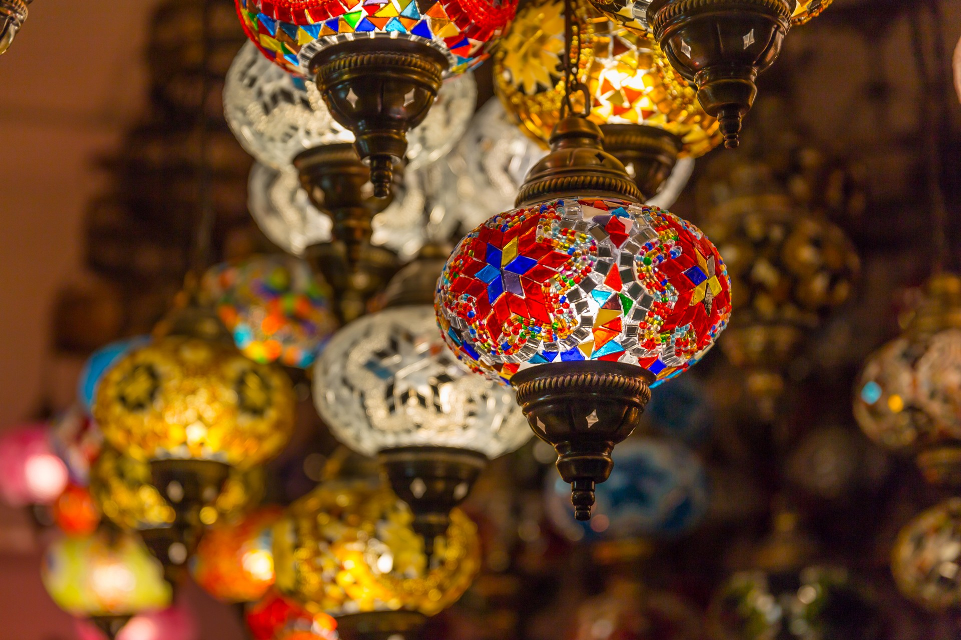 colourful lamps oman