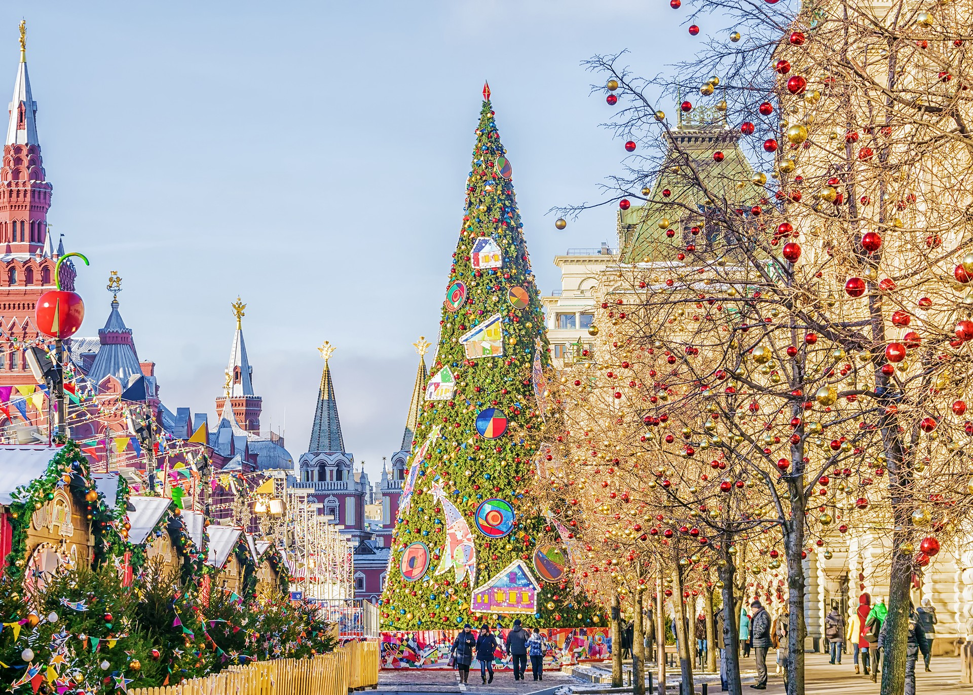 Countries that celebrate Christmas in January: Russia Red Square
