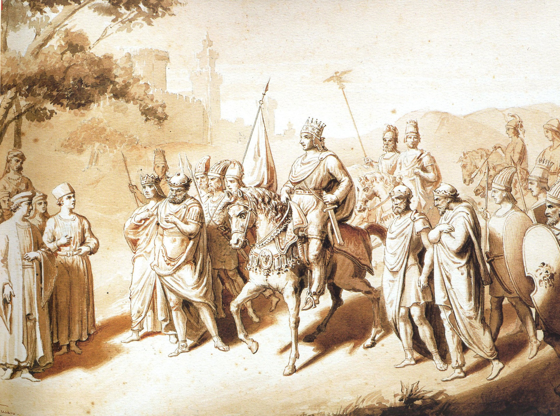 Italian painting of Tigranes the Great
