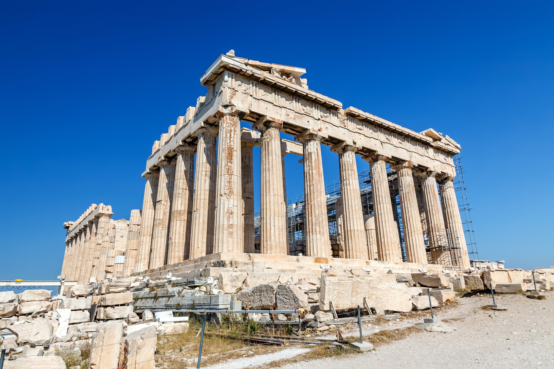 The Acropolis in Greece