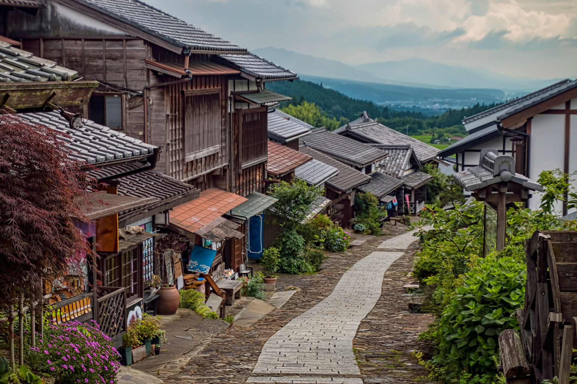 Traditional Japanese village on Nakasendo Trail