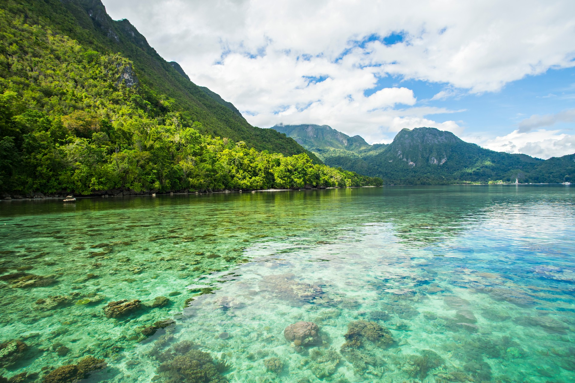 View of Seram island in Indonesia