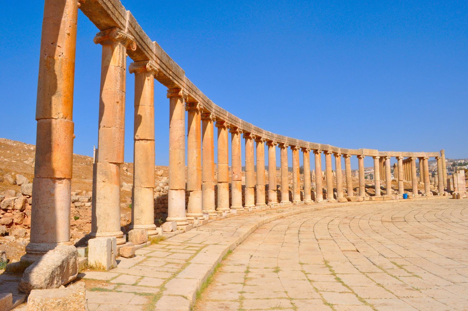 Colonnade in Jerash, Jordan