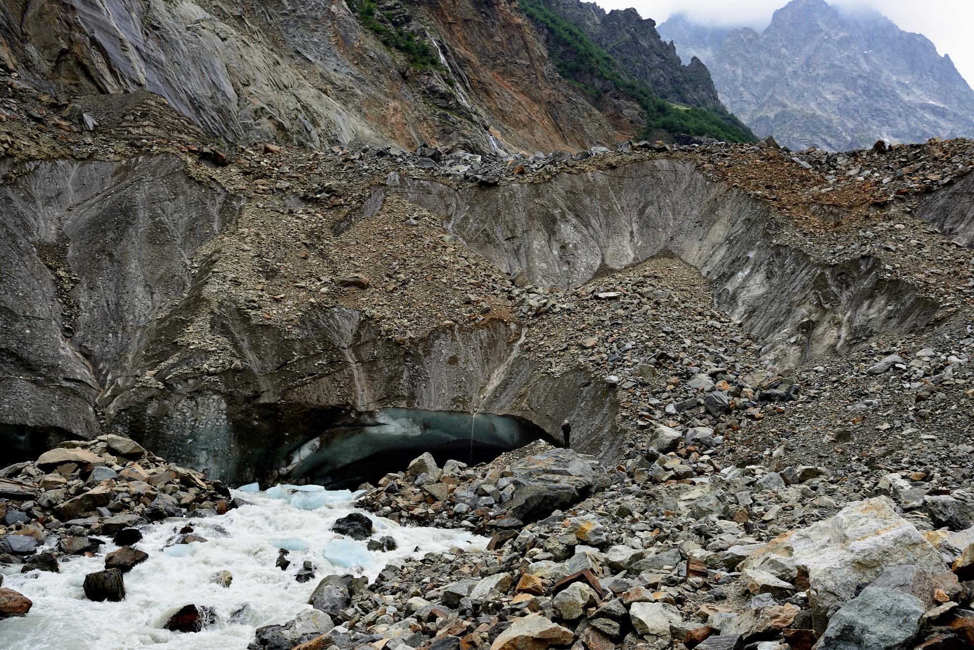 The Chalati Glacier in the Svaneti region, Georgia