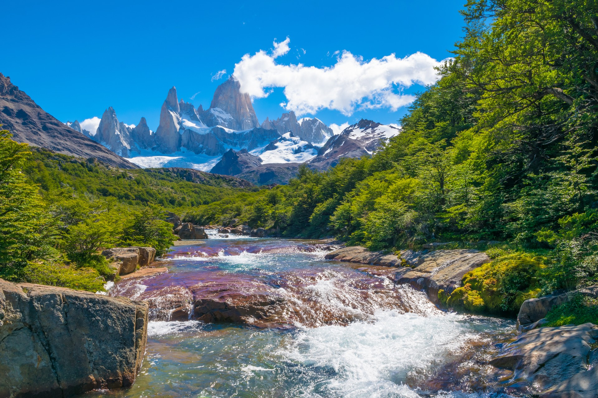 View of Fitz Roy in Patagonia