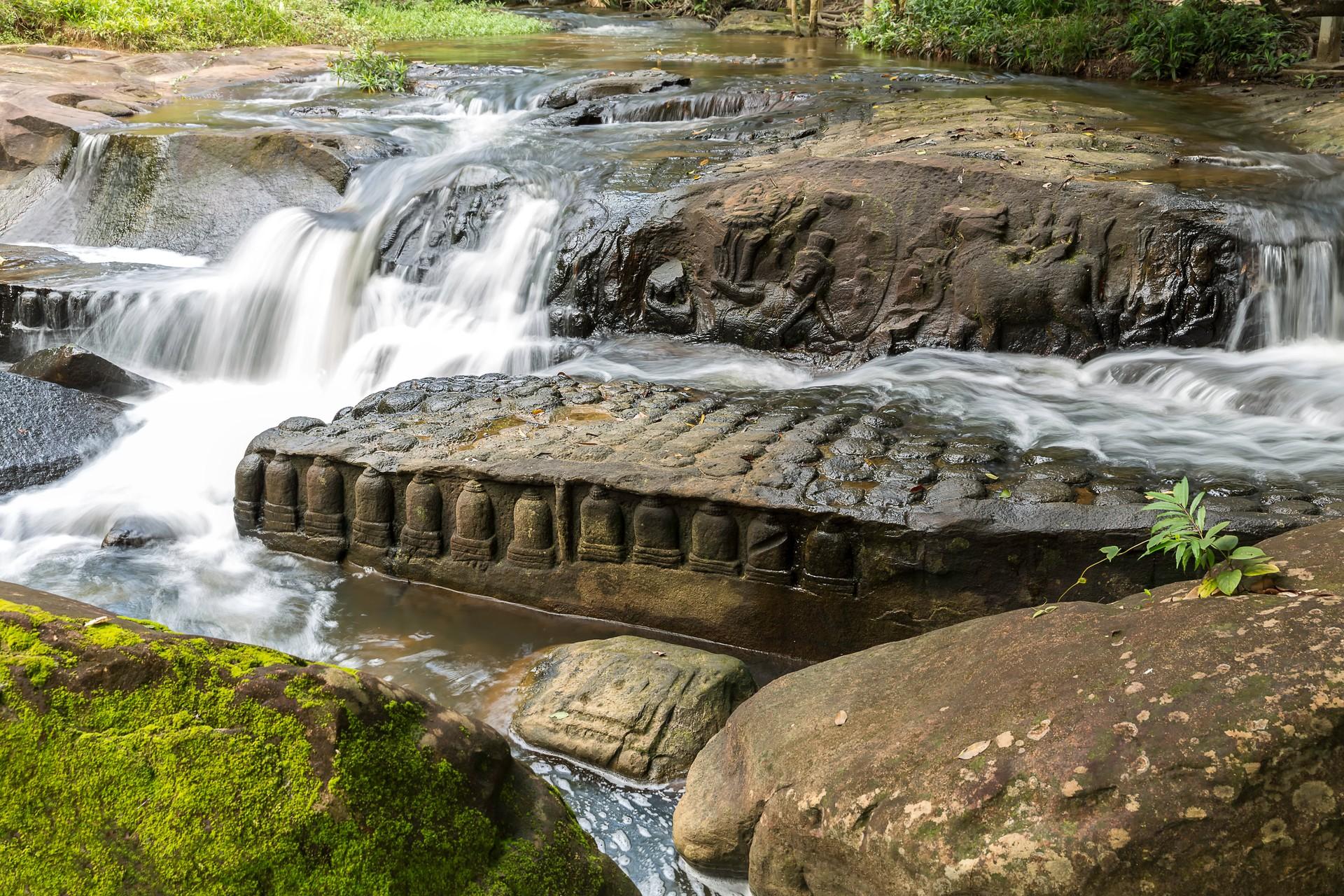 River carvings of Kbal Spean, Cambodia