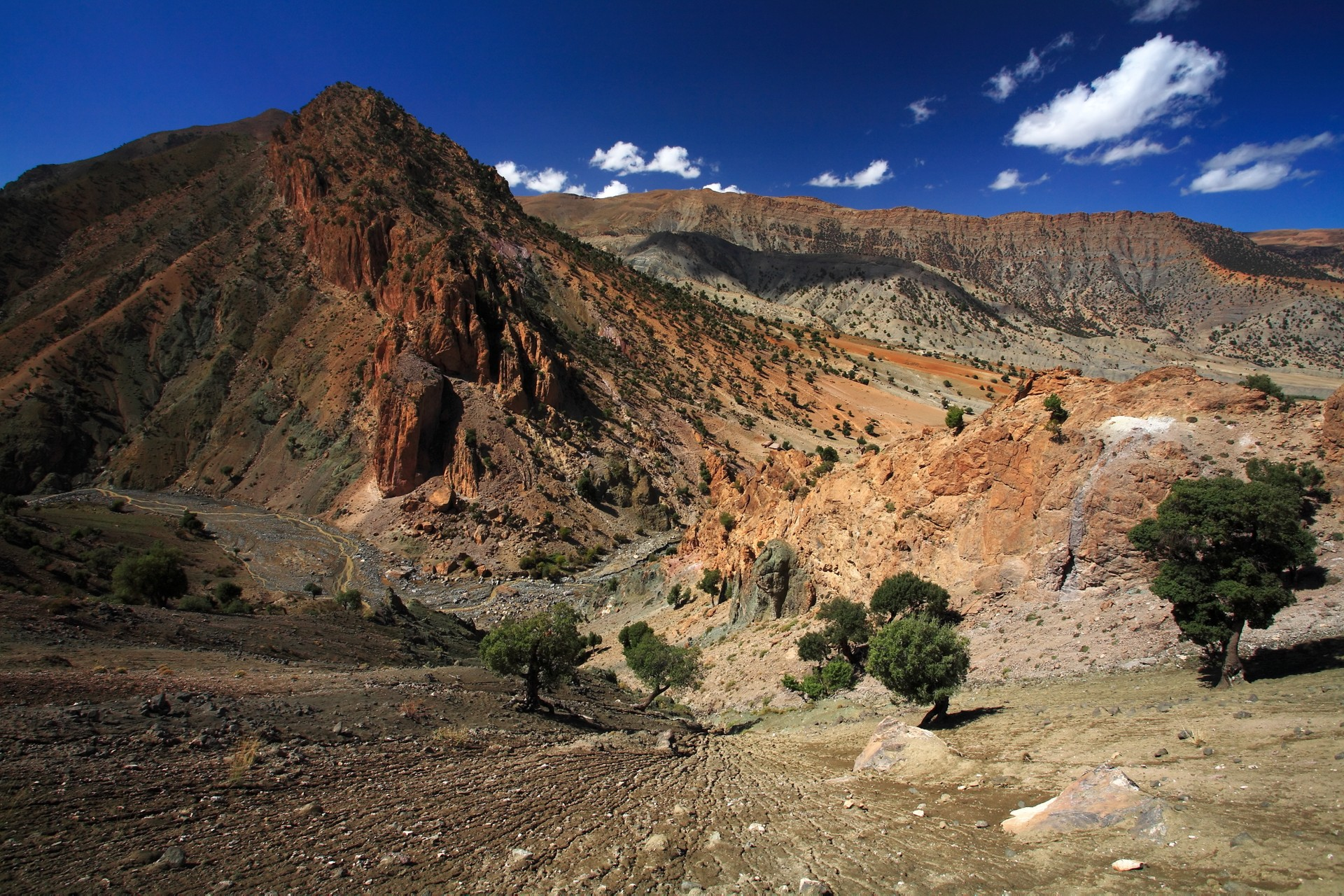 The hills of the Ait Bougamez Valley in Morocco