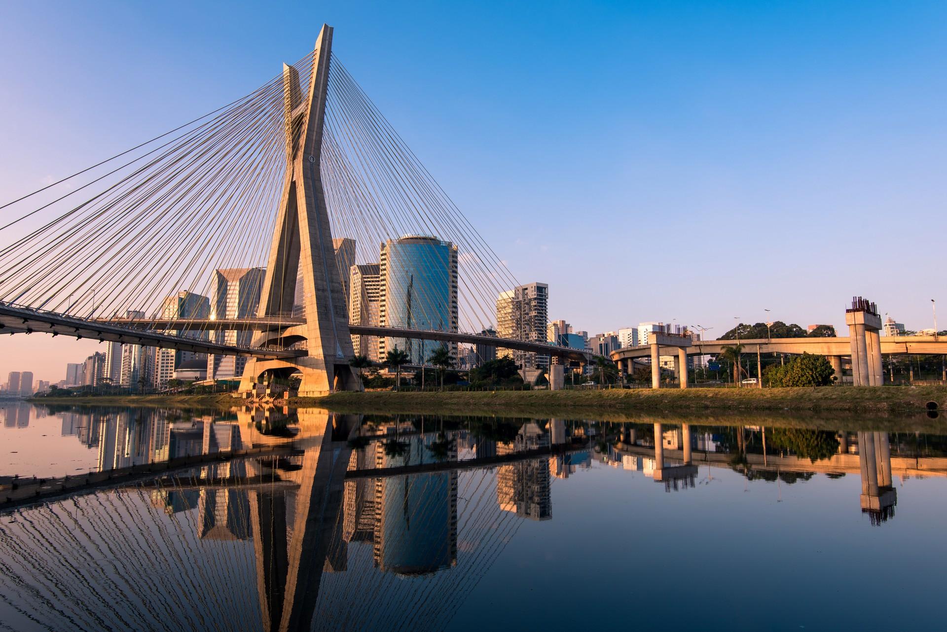The cityscape of São Paulo