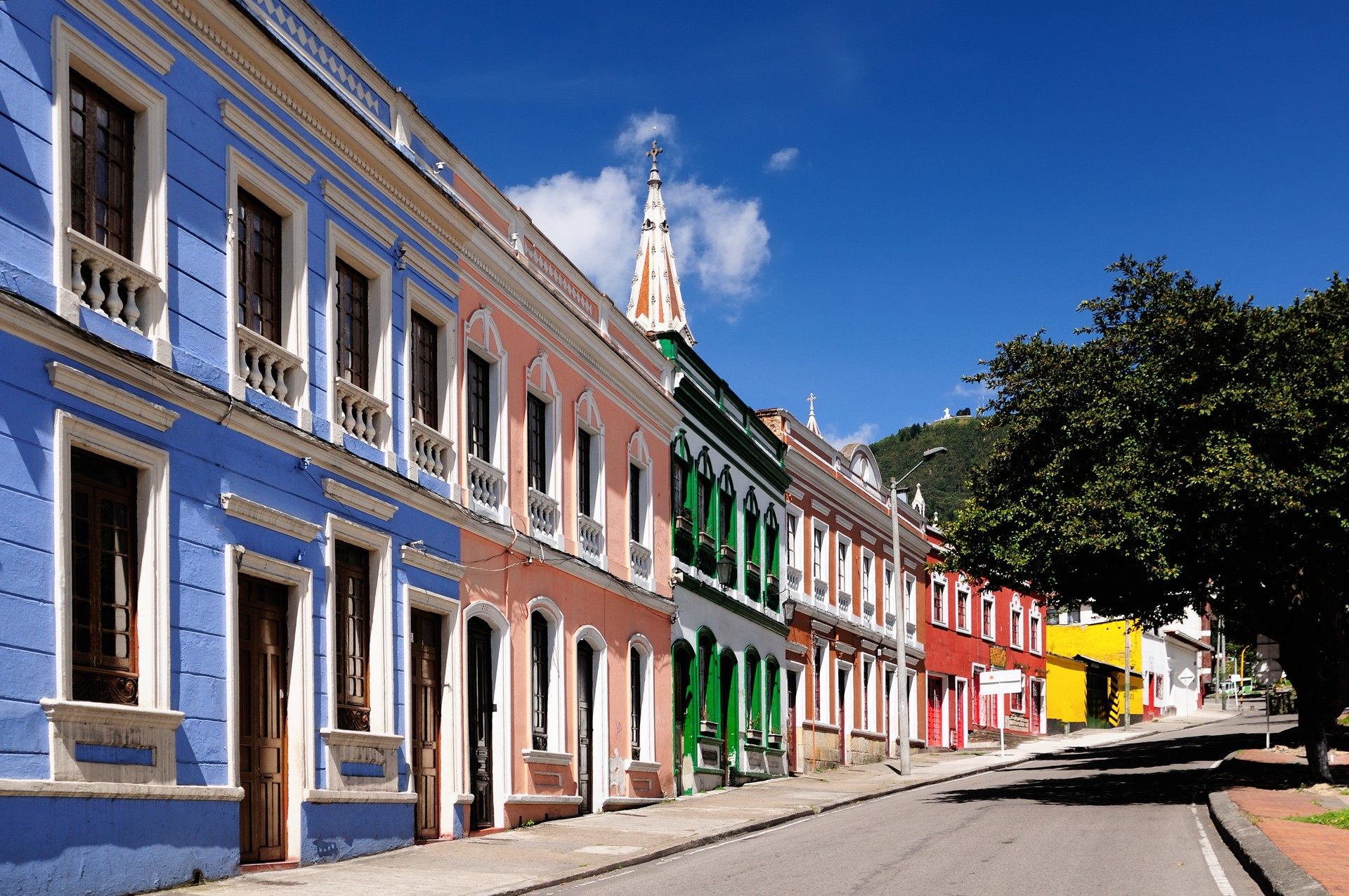 Colourful colonial houses in Bogota, Colombia