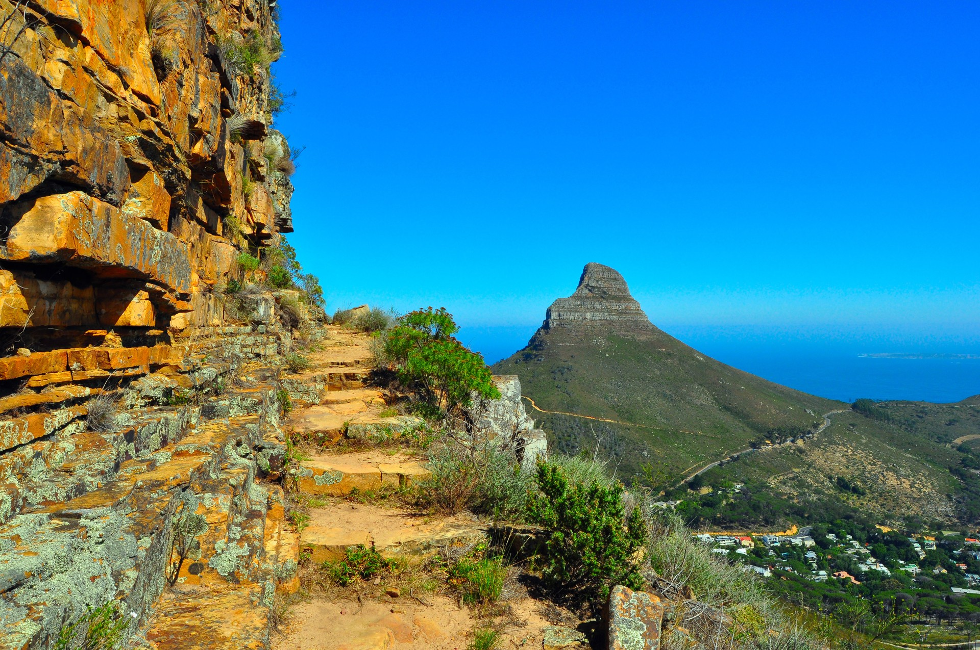 Hiking up Table Mountain