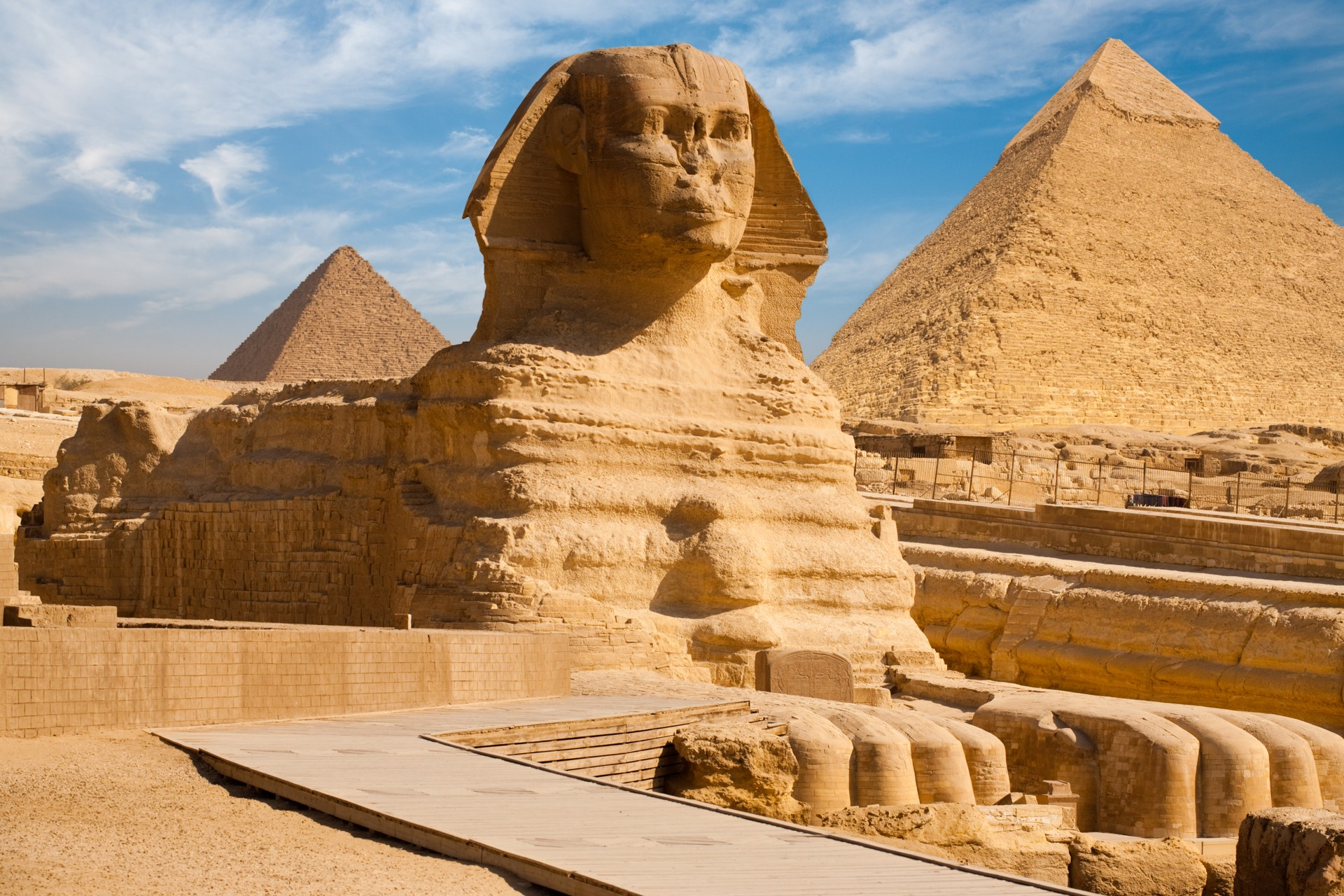 Pyramids of Giza and their Sphinx, Egypt