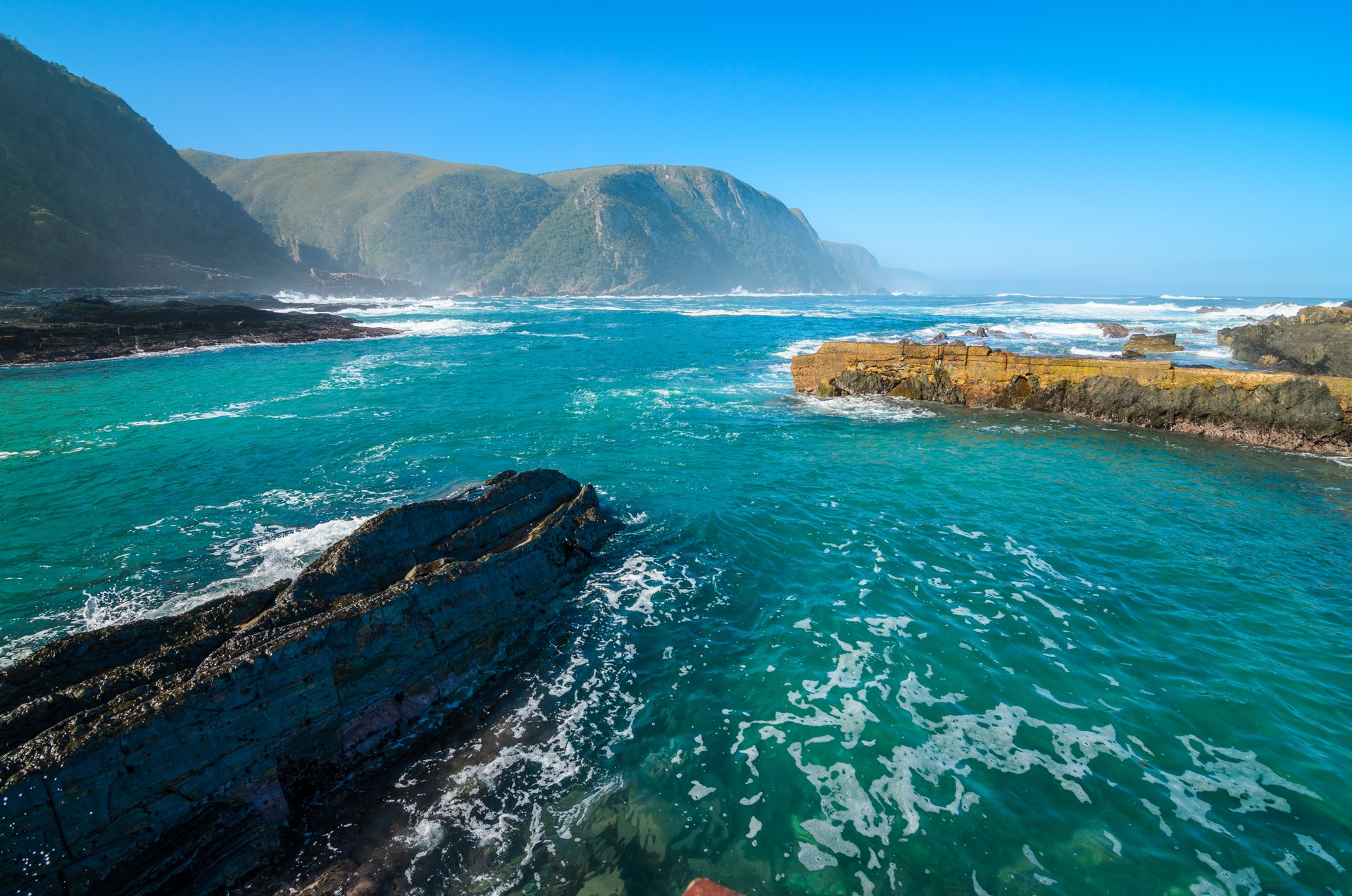 The coastline of Tsitsikamma National Park in South Africa