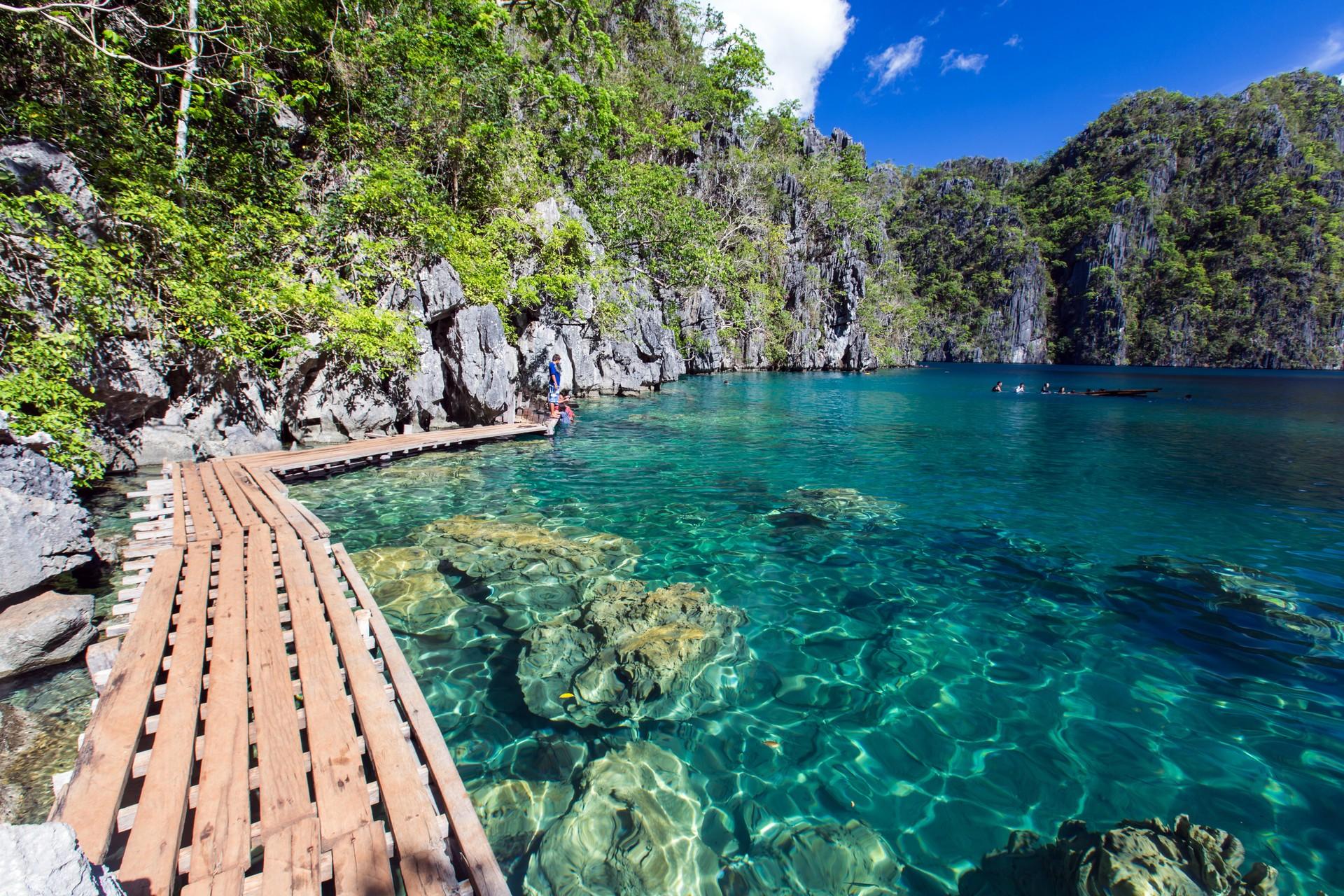 The lagoons of Coron Island