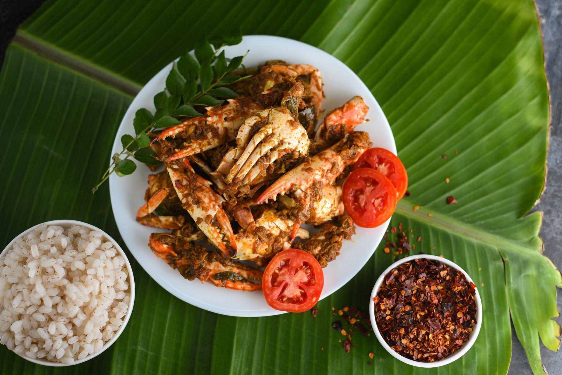 Crab curry in Sri Lanka