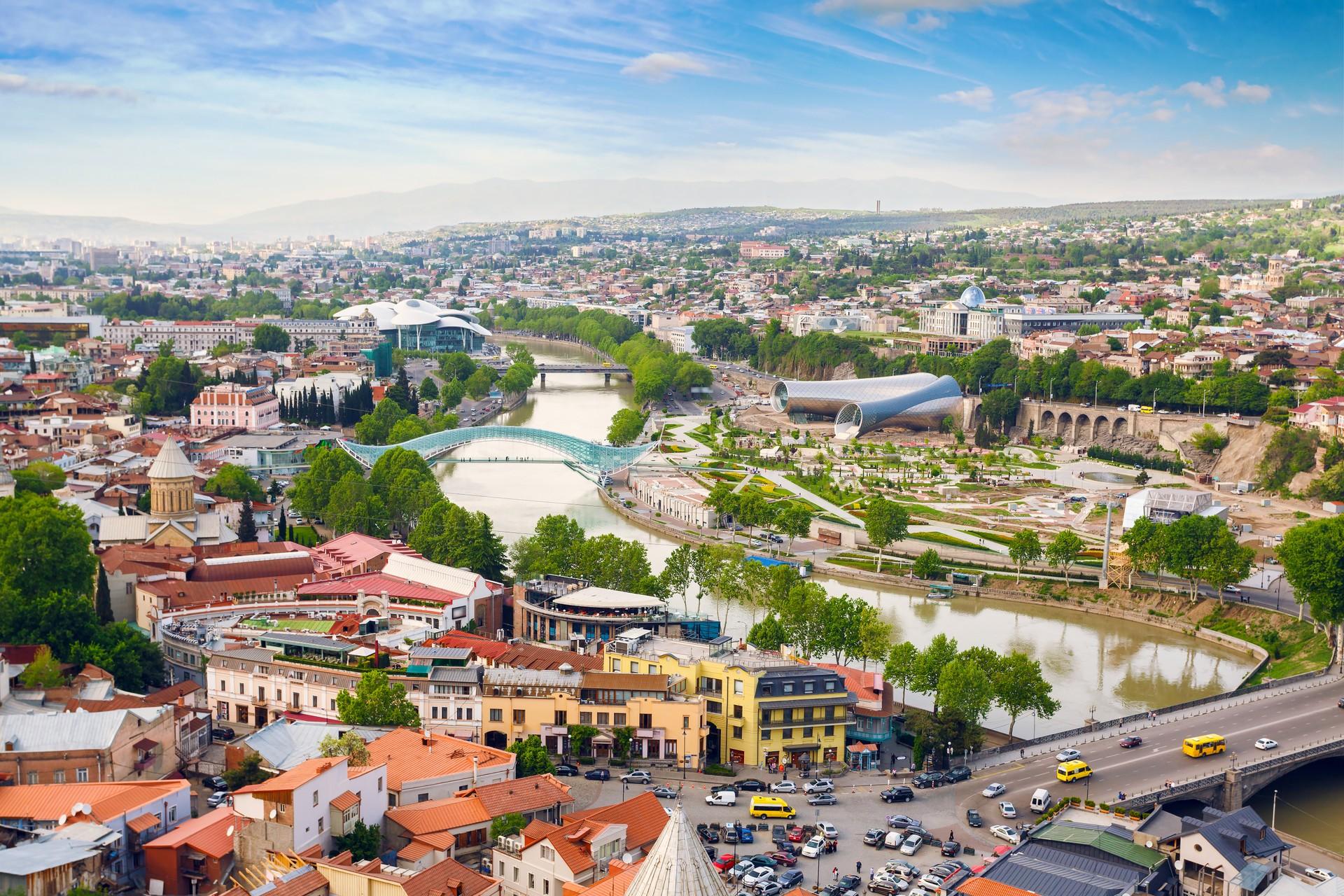 A cityscape of Tbilisi, Georgia
