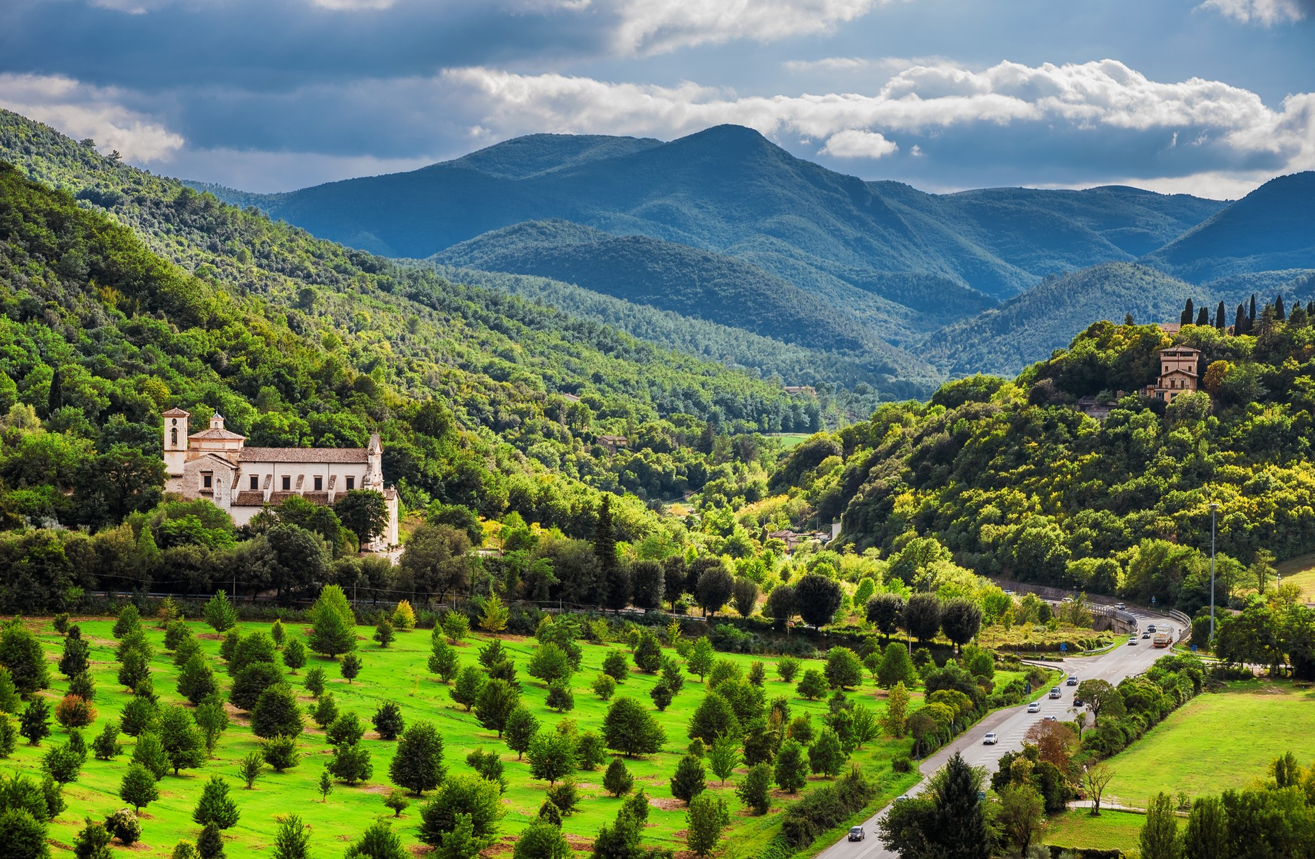 Views of Umbria on a road trip in Italy