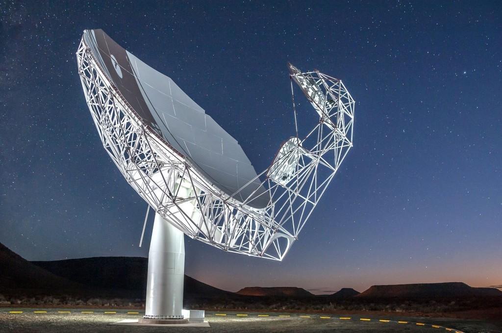 The MeerKAT telescope in the Karoo region of South Africa