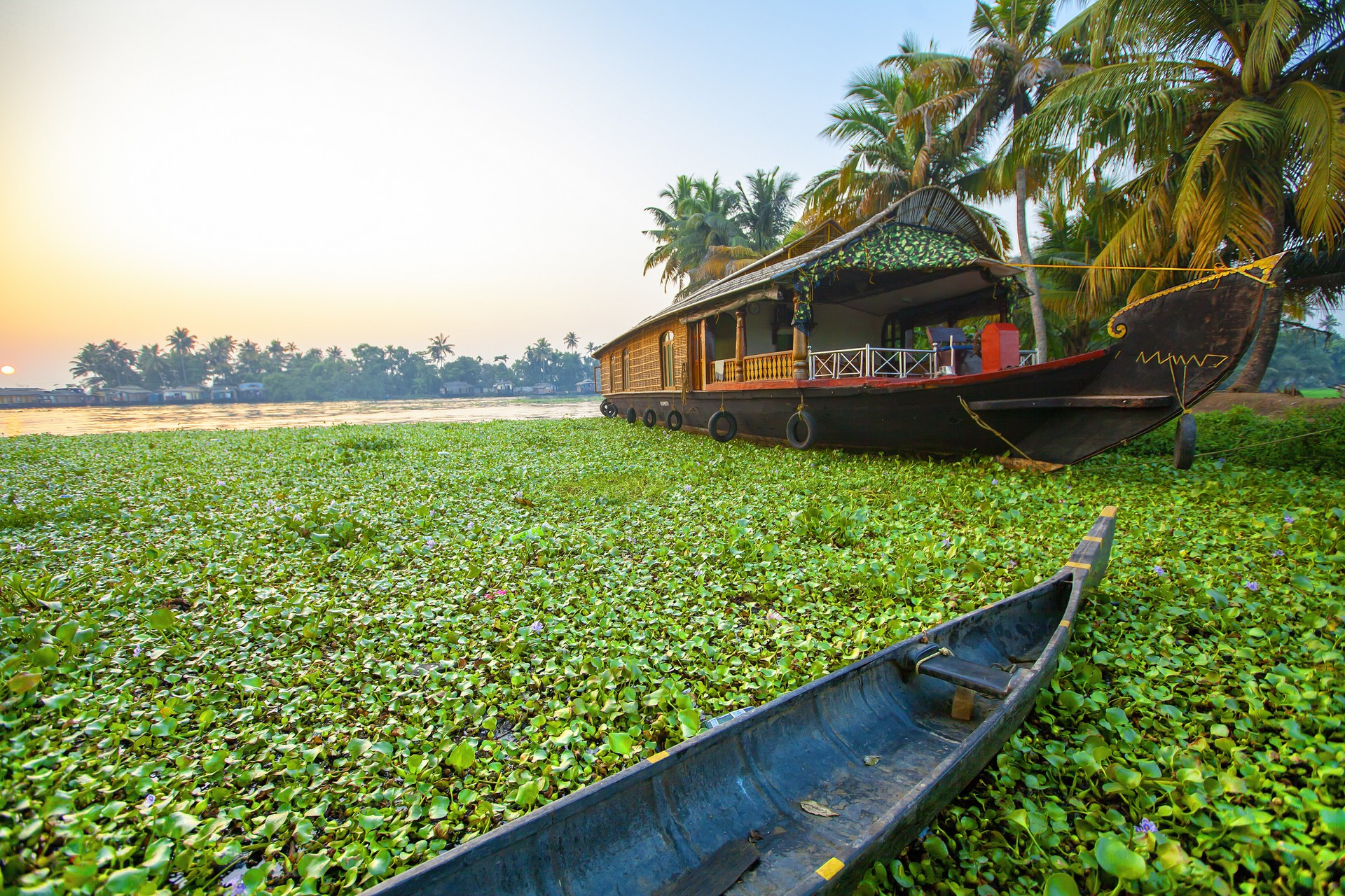 Houseboat in Kerala, India