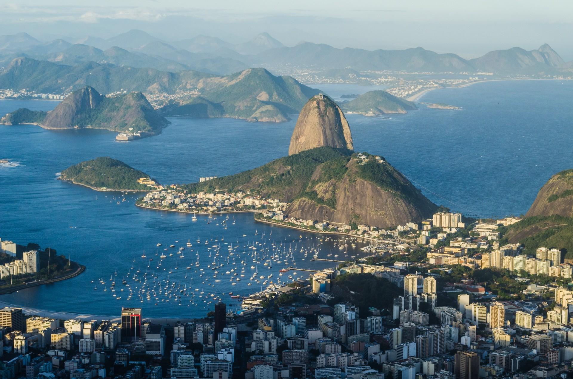 Guanabara Bay surrounding Rio de Janeiro