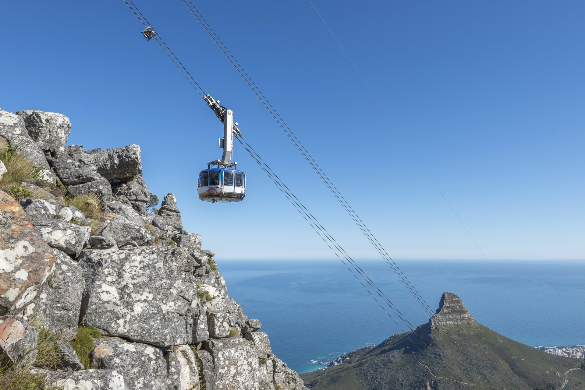 Cable car up Table Mountain in Cape Town