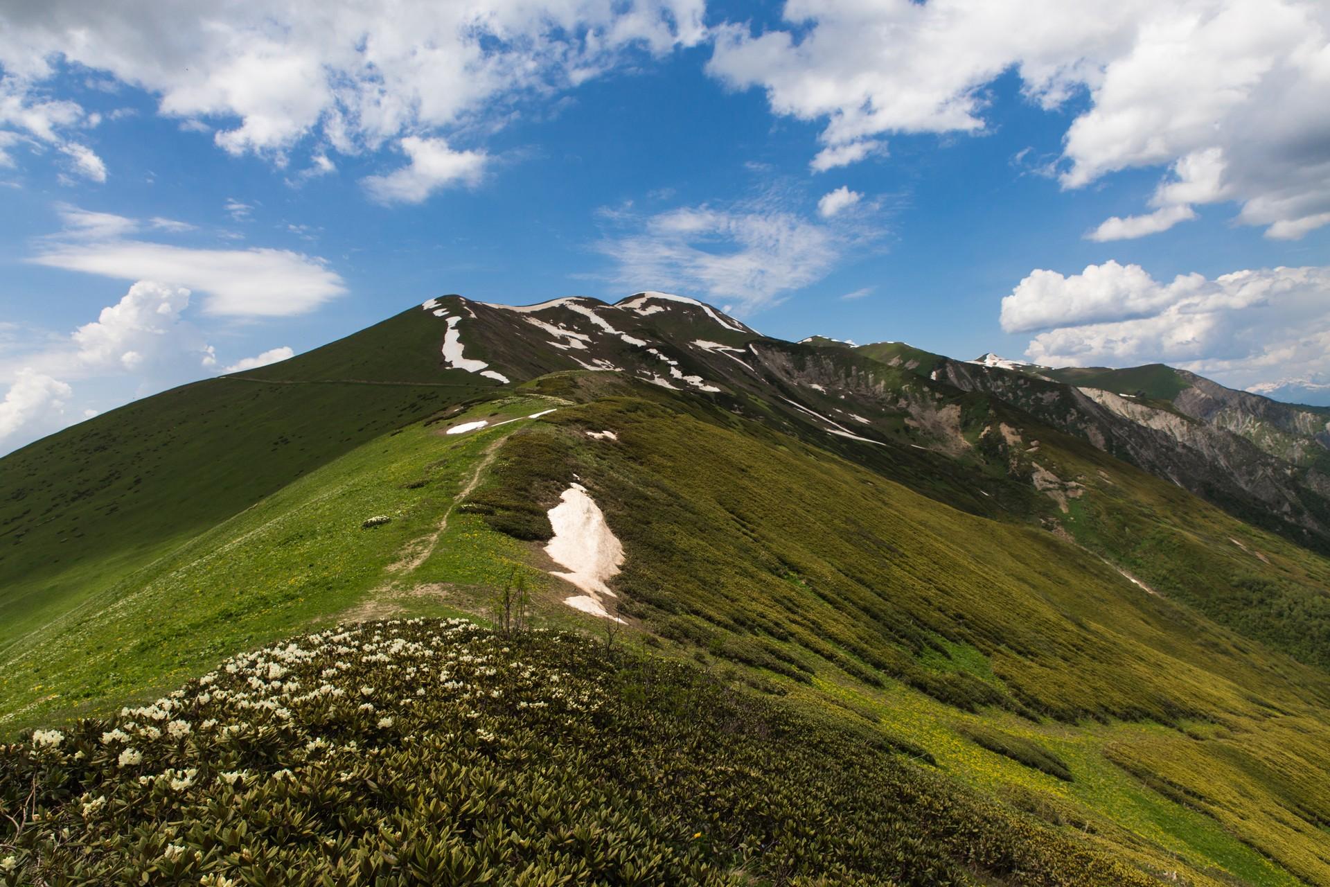 The Chkunderi Pass in the Svaneti region of Georgia
