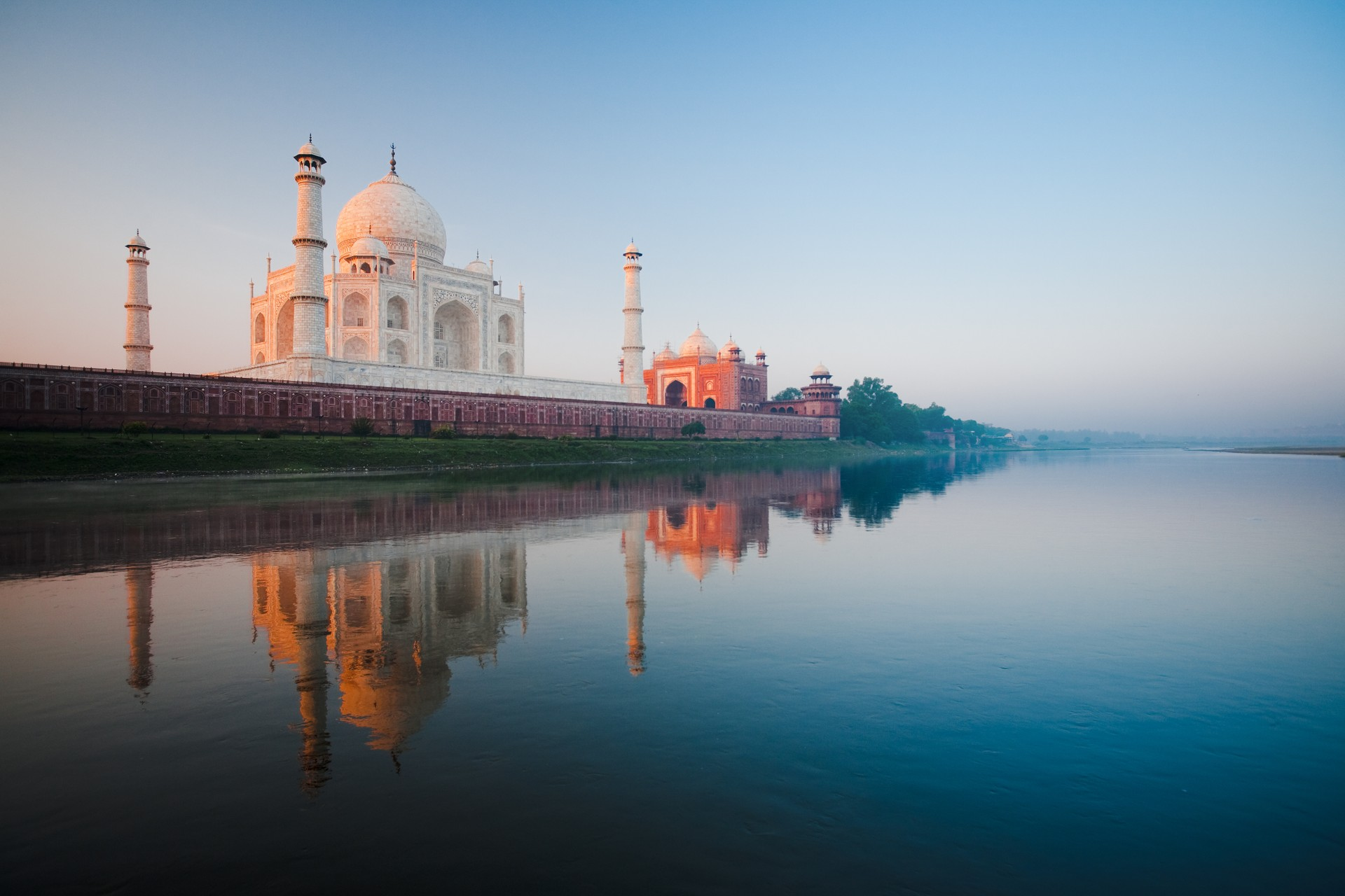 Taj Mahal from the river