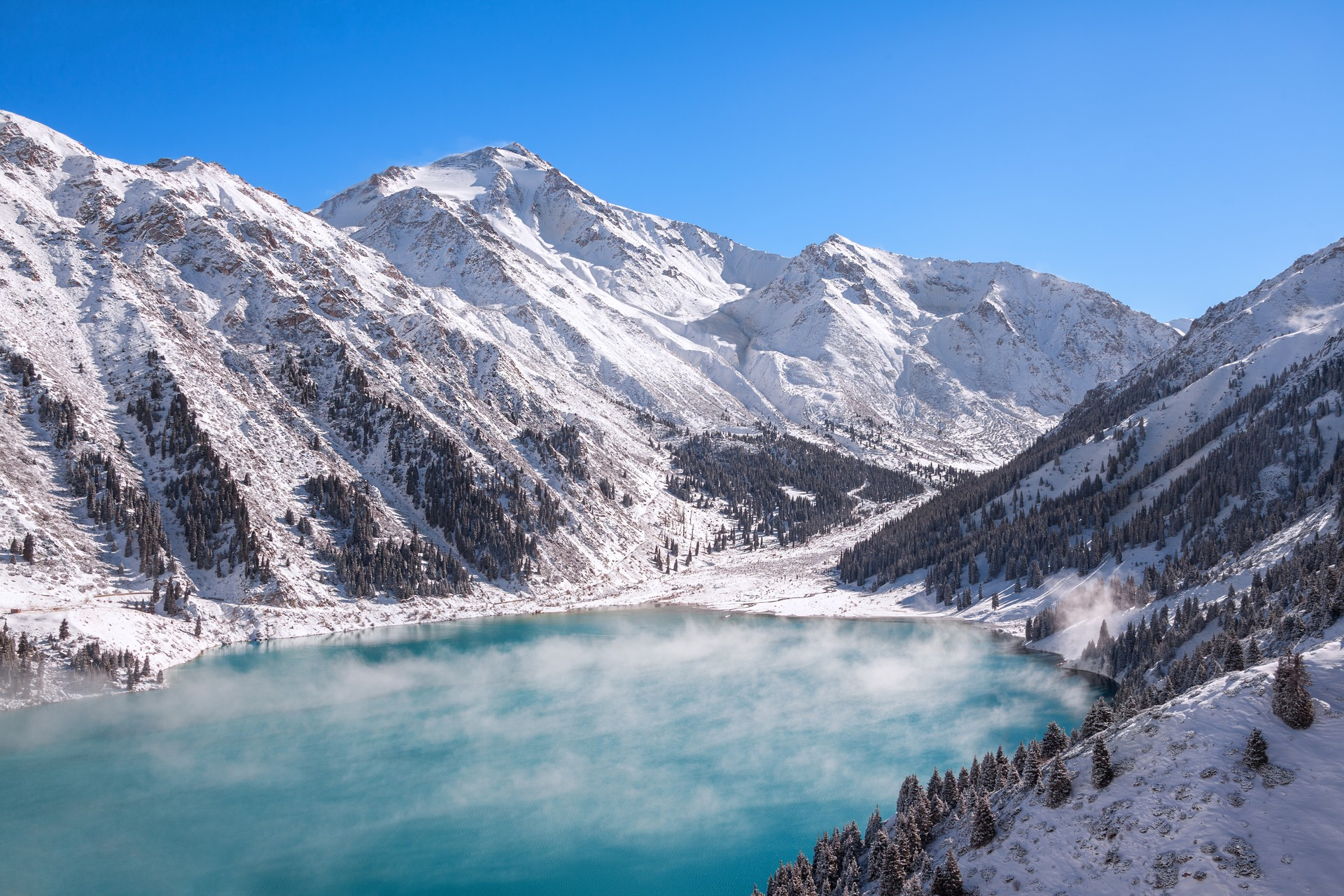 Big Almaty Lake in Tien Shan mountains