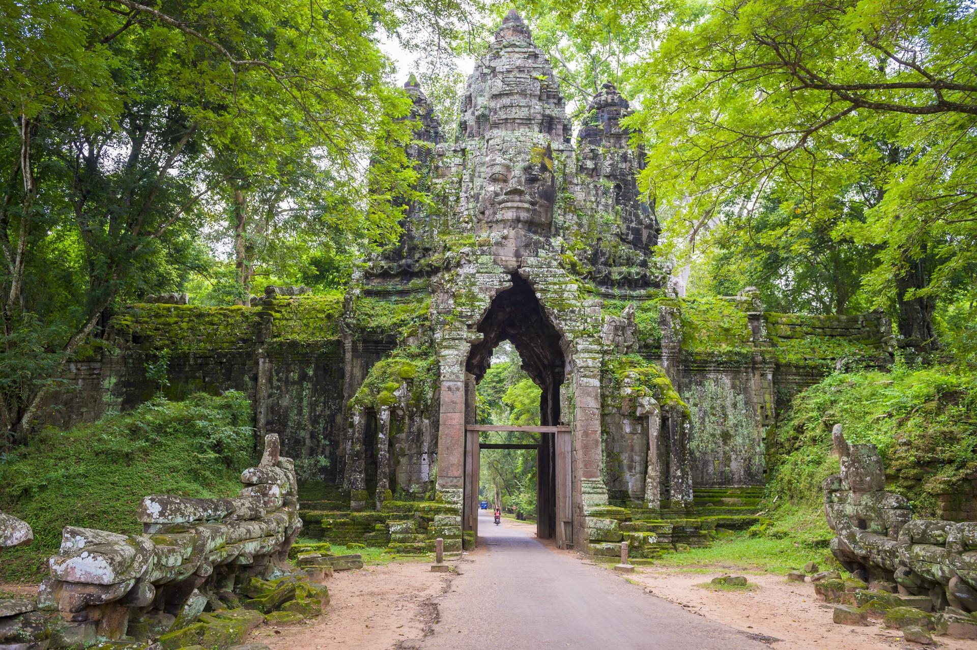 North Gate of Angkor Thom, Cambodia