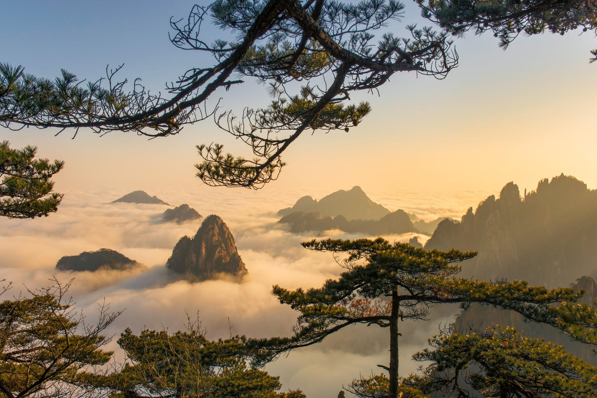 Huangshan mountain landscape
