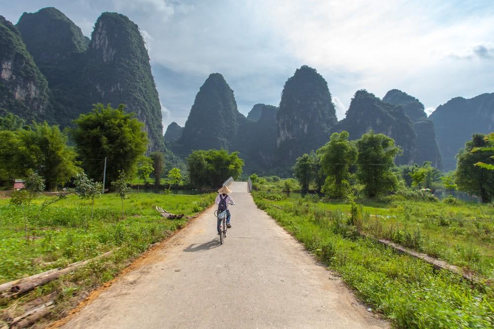 Cycling in Yangshuo in Southern China