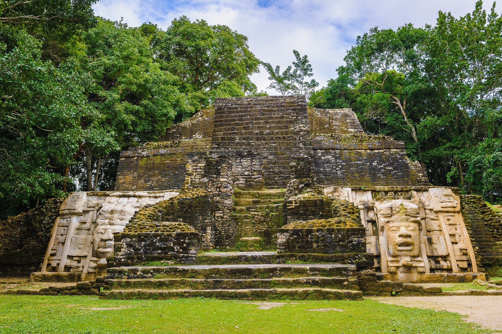 The ancient Maya site of Caracol in Belize