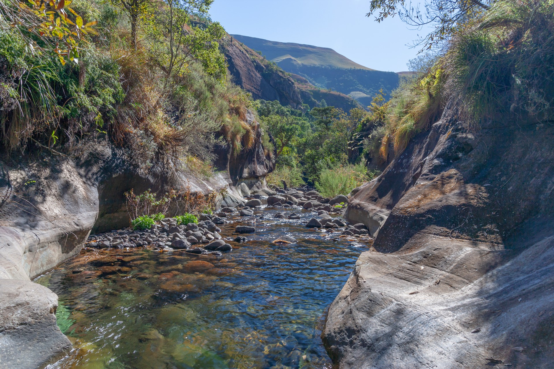 Rainbow Gorge in Cathedral Peak Nature Reserve, Drakensberg SA