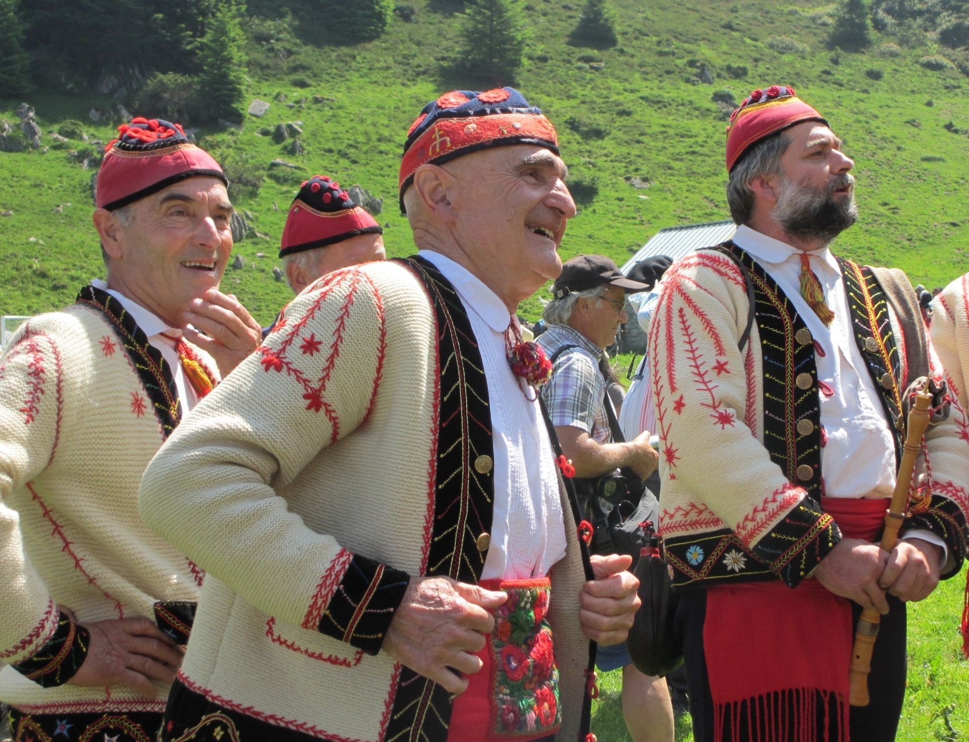 Transhumance traditional singers in French Pyrenees