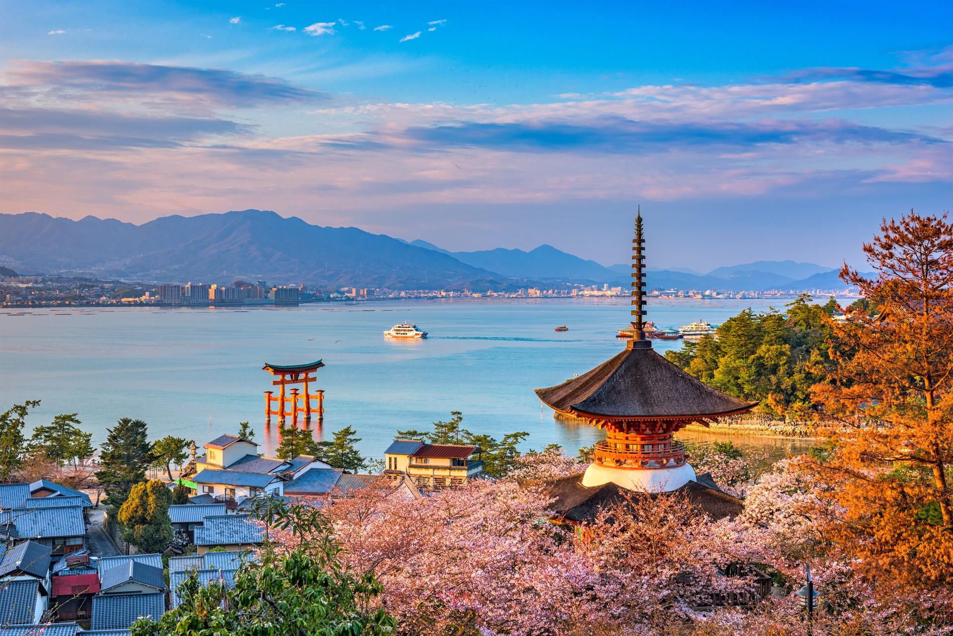 Beautiful views out over Miyajima Island