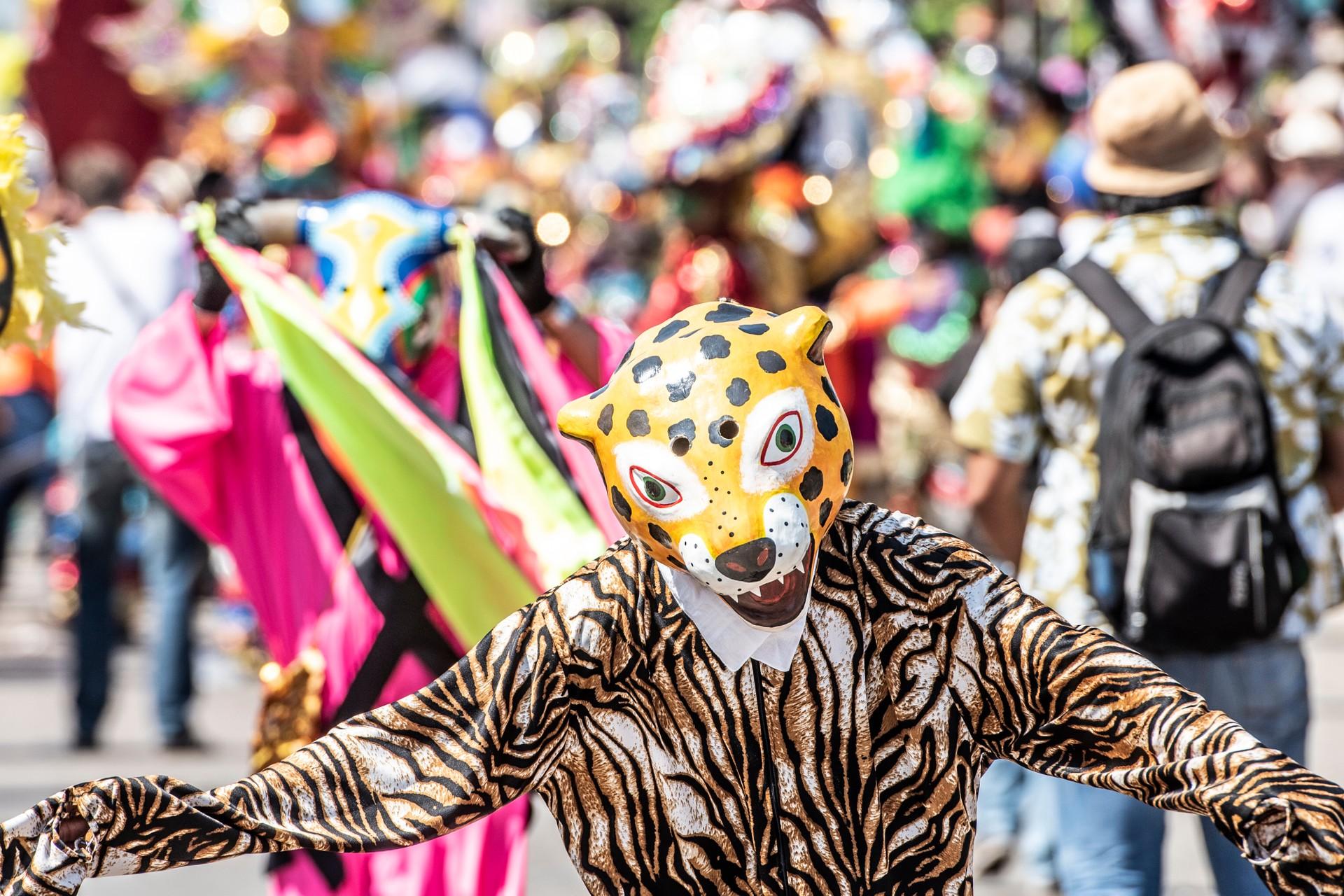 Costume in Barranquilla's carnival, Colombia
