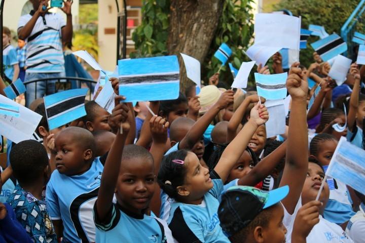 School students celebrating Botswana Independence Day
