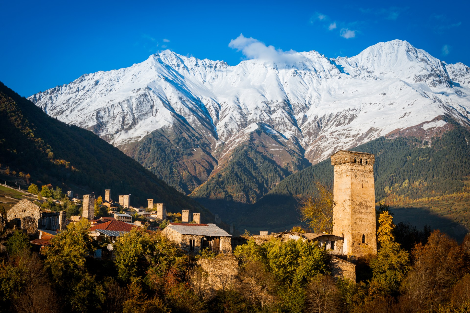 Mestia is often referred to as the capital of the Upper Svaneti region