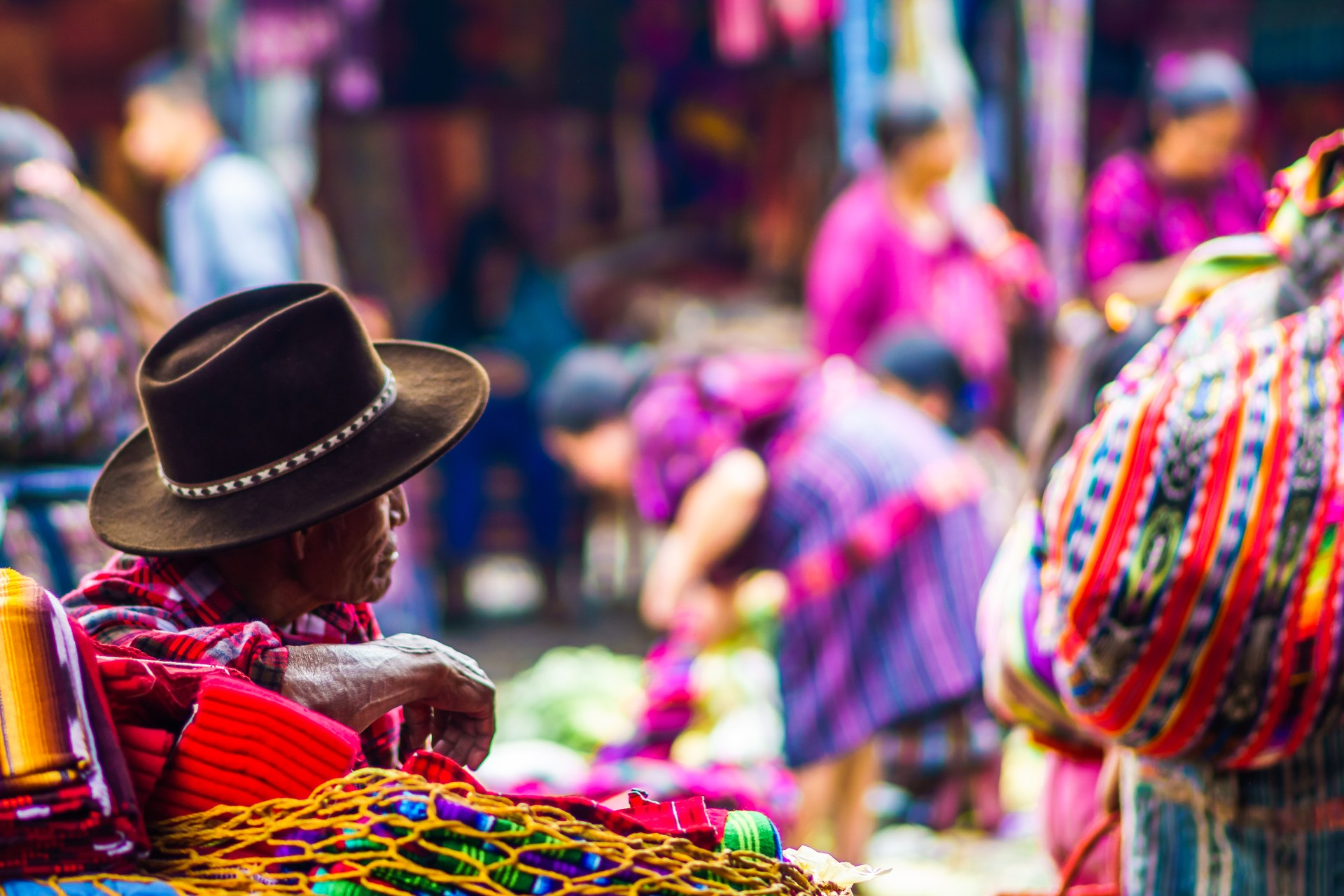A Mayan man at a market near Lake Atitlan, Guatemala