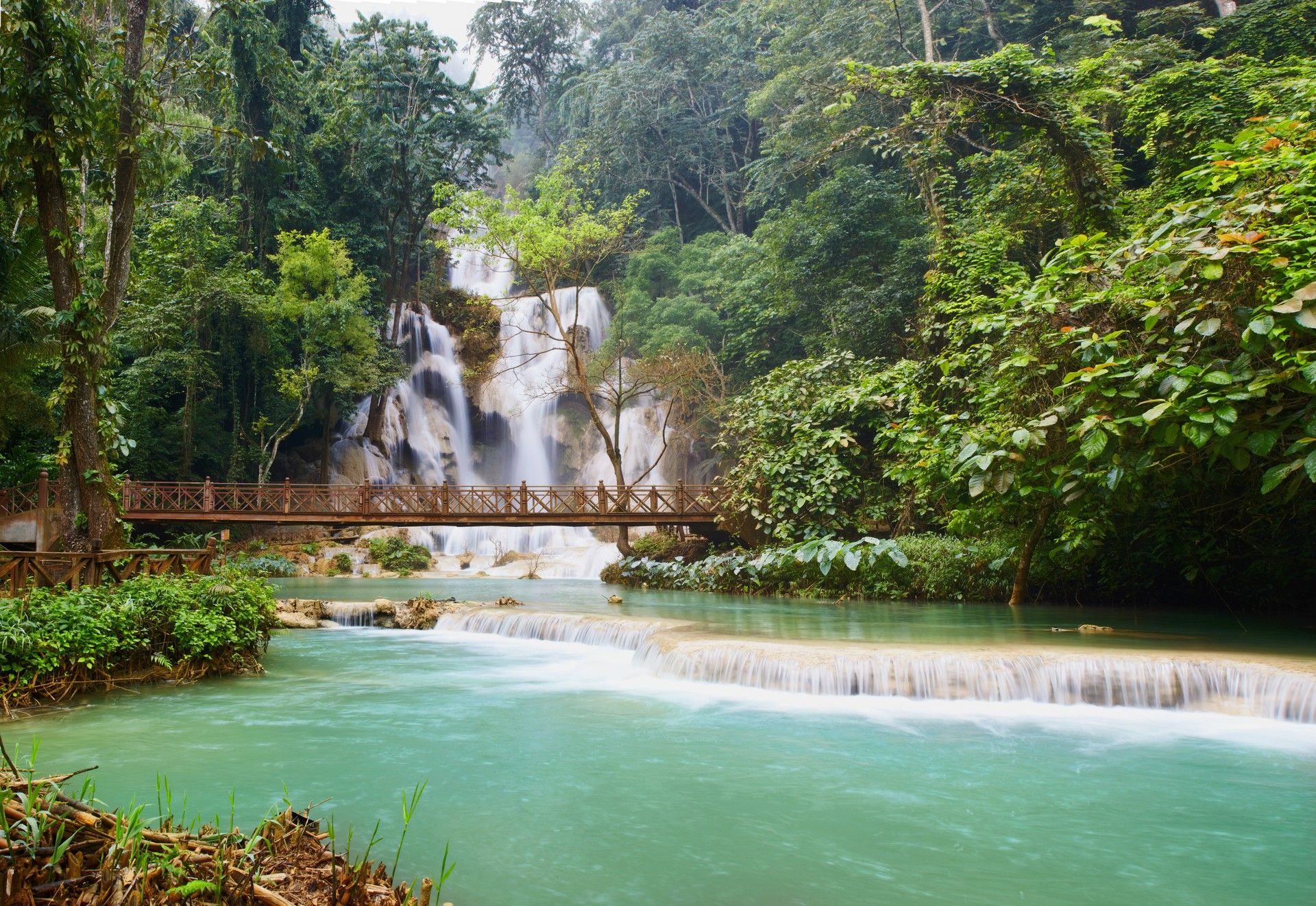 The best places to go wild swimming: Kuang Si Waterfall