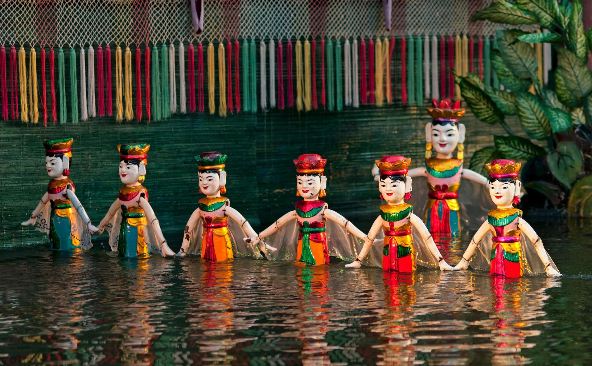 Water puppet show in Hanoi, Vietnam
