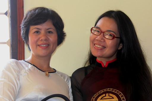 Our fantastic female-led local partners: Hue and Ly, Vietnam